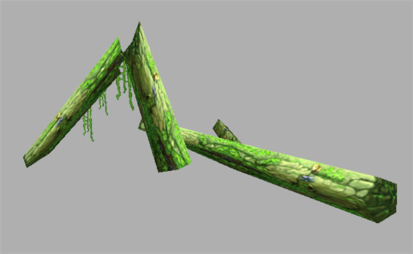 Game Model Arena - dry rot trunk 01 - 3DOcean Item for Sale