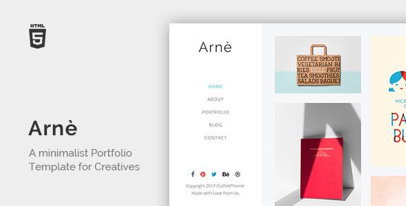 Arne – Minimal Creative Portfolio Template