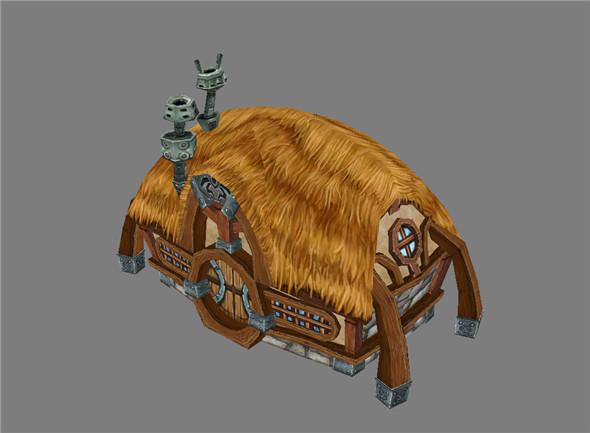 Game Model Arena - dwarf hut 02 01 - 3DOcean Item for Sale