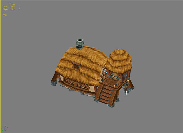 Game Model Arena - fixed abode dwarf 01 - 3DOcean Item for Sale