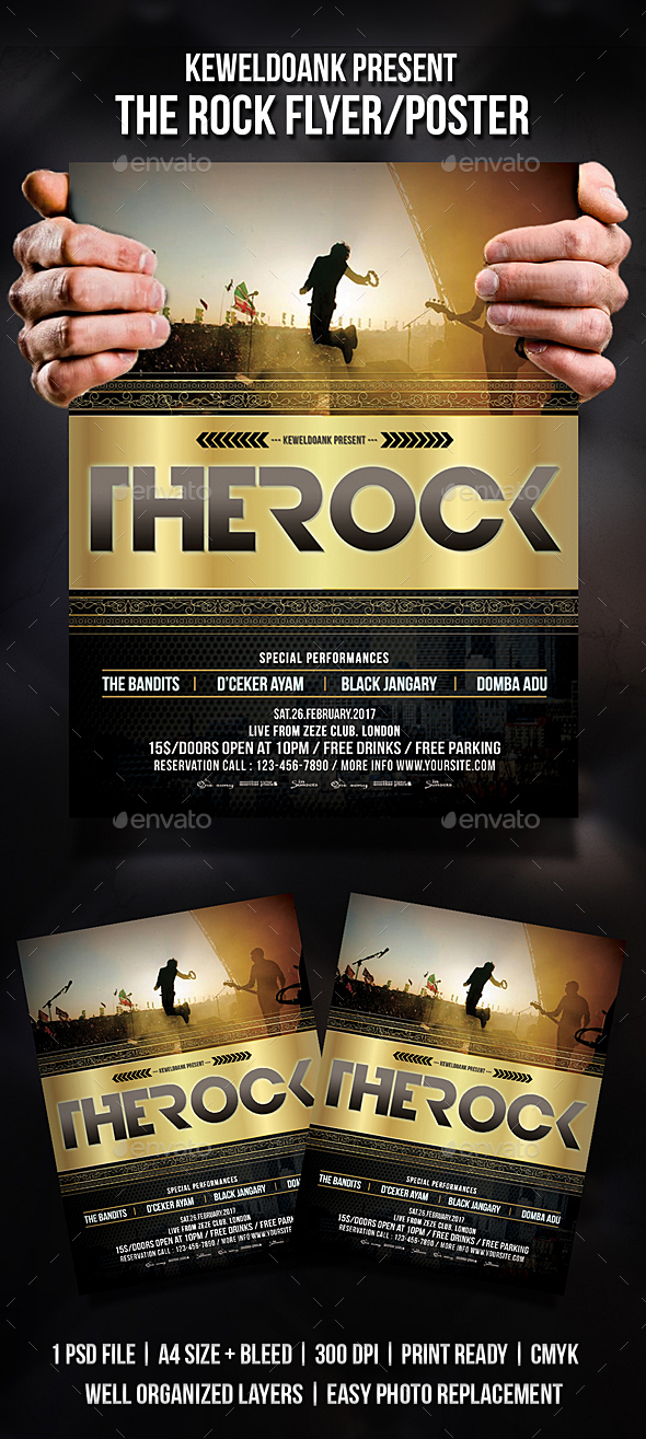 The Rock Flyer - Events Flyers