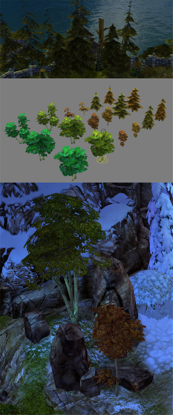Game Model Arena - Forest 01 - 3DOcean Item for Sale