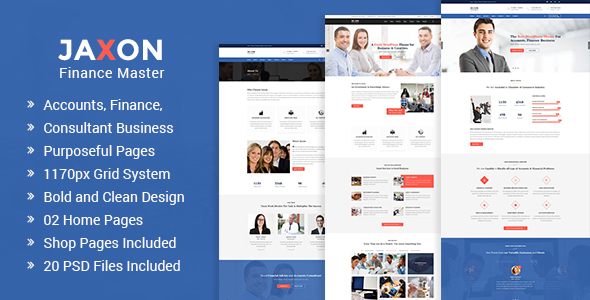 Jaxon – Accounts, Finance and Consulting Business PSD Template