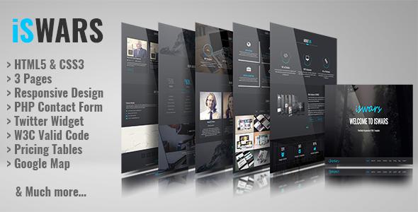 iSWARS – Portfolio Responsive HTML Template