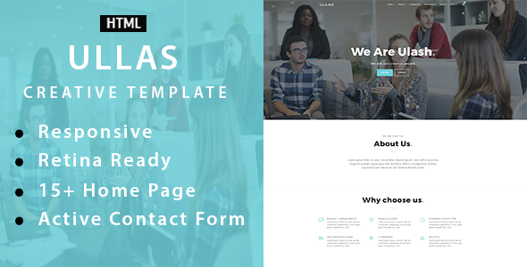 Ullas – Creative Multi-Purpose HTML Template