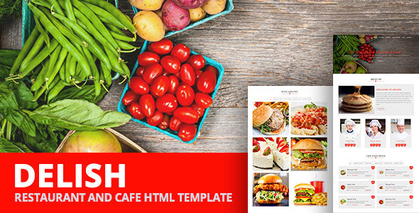 DELISH – Restaurant and Cafe Html Template