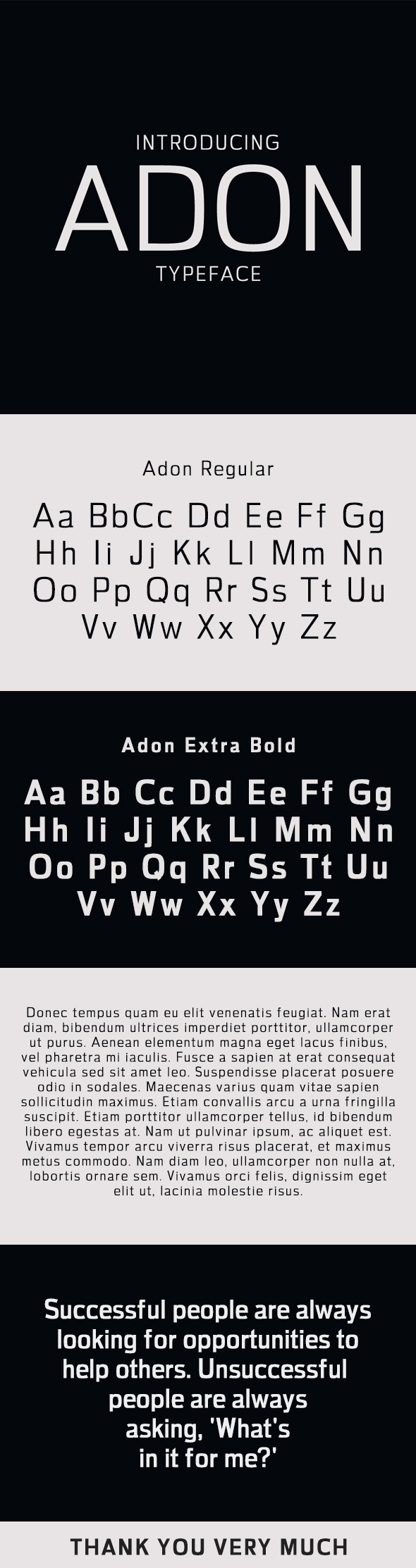Adon Sans Serif Typeface - Sans-Serif Fonts
