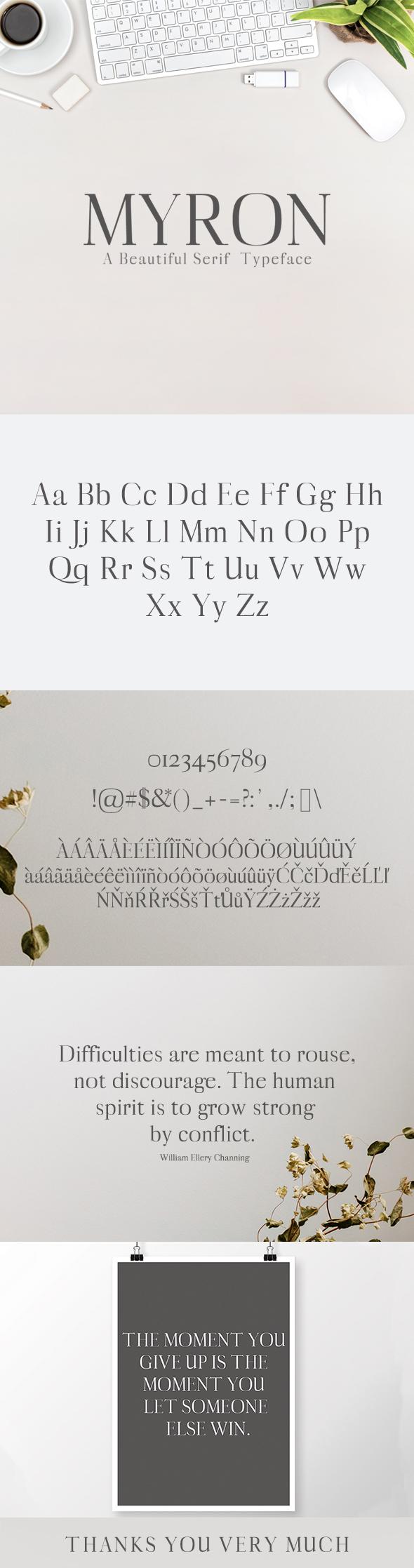 Myron Serif Typeface - Serif Fonts