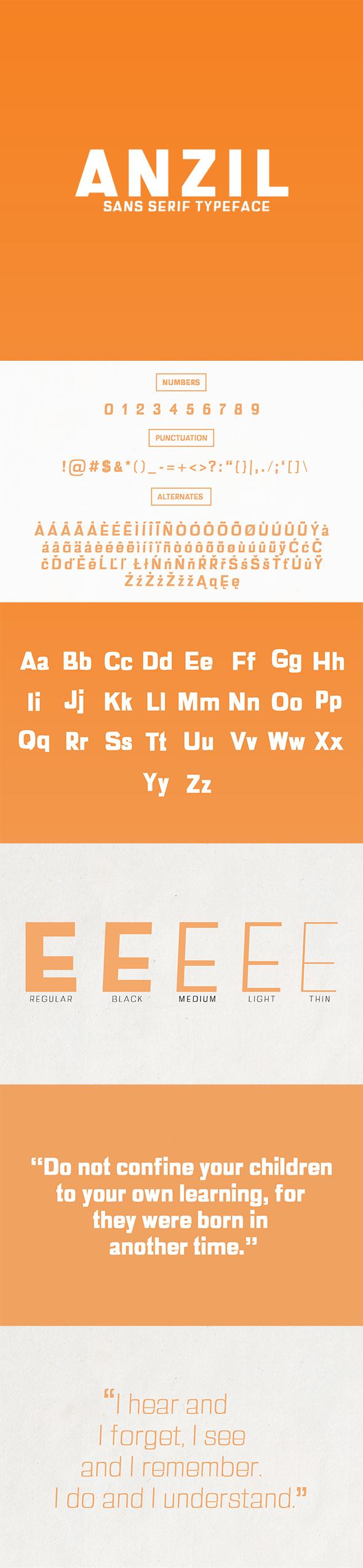 Anzil Sans Serif Font Family - Sans-Serif Fonts