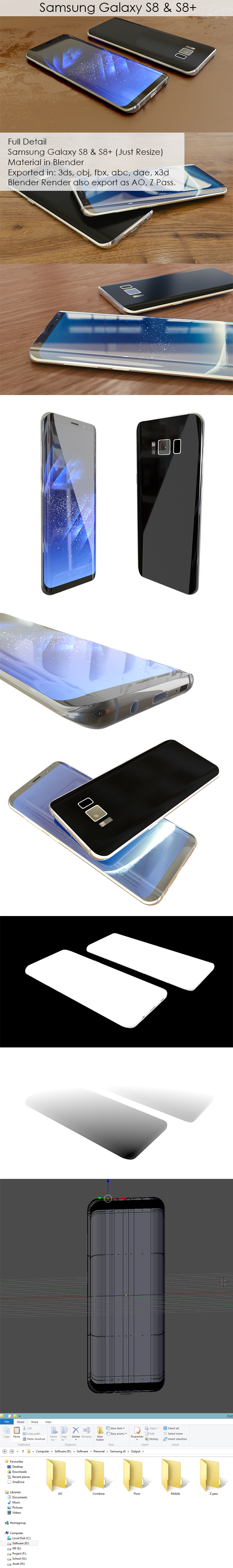 Samsung galaxy s8 - 3DOcean Item for Sale