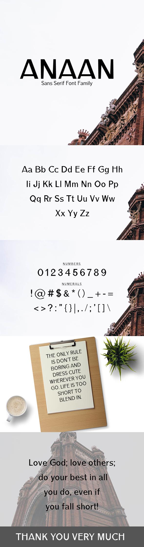 Anaan Sans Serif Font Family - Sans-Serif Fonts