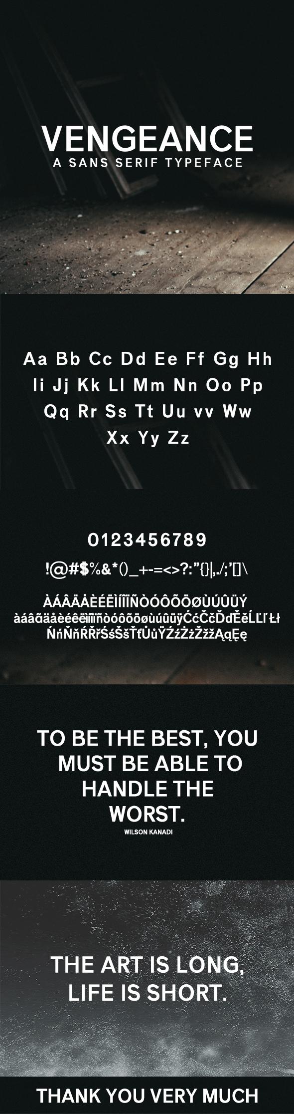 Vengeance Sans Serif Typeface - Sans-Serif Fonts