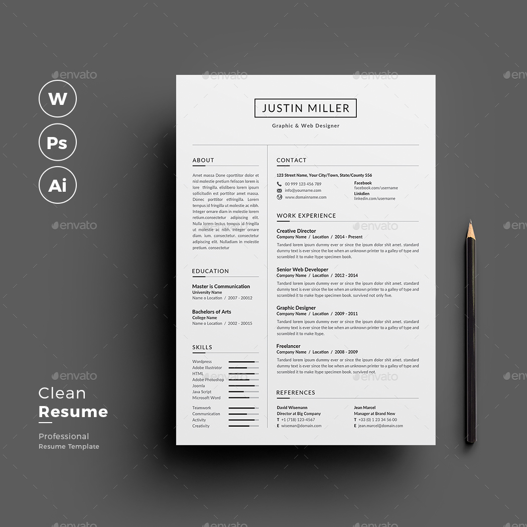 resume by jpixel55 graphicriver
