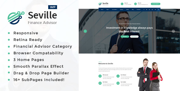 Seville -Business Consulting and Professional Services WordPress Theme - Business Corporate