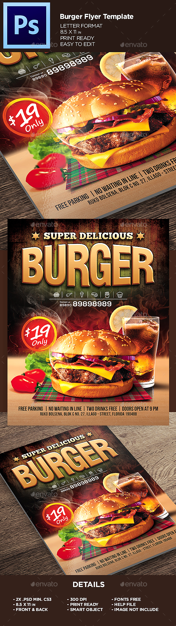 Burger Flyer Template - Restaurant Flyers