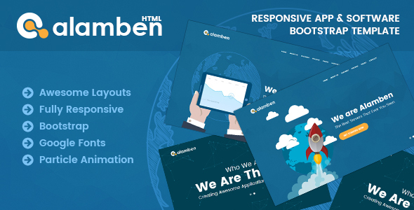 Alamben –  Responsive App & Software Bootstrap Template