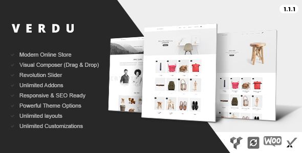 Verdu – Creative Multiuse eCommerce Theme – Minimalist WooCommerce