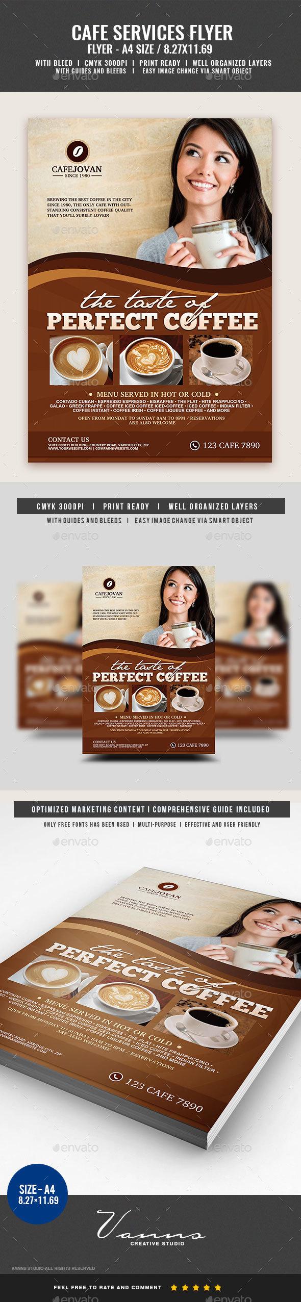 Cafe Coffee Restaurant Flyer - Restaurant Flyers