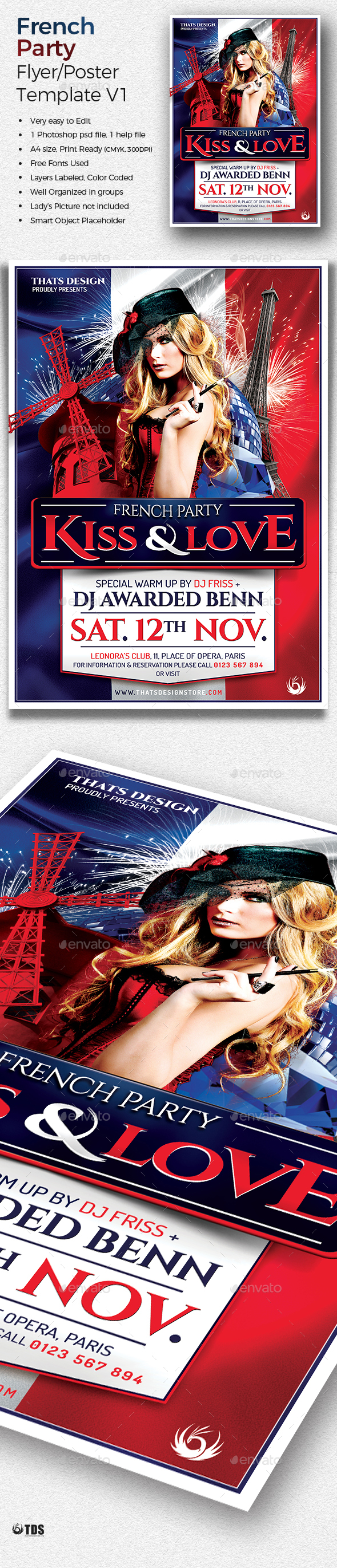 French Party Flyer Template V1 - Clubs & Parties Events