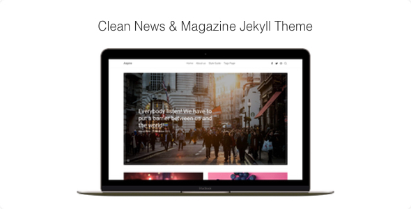 Aspire - Clean News & Magazine Jekyll Theme - Jekyll Static Site Generators