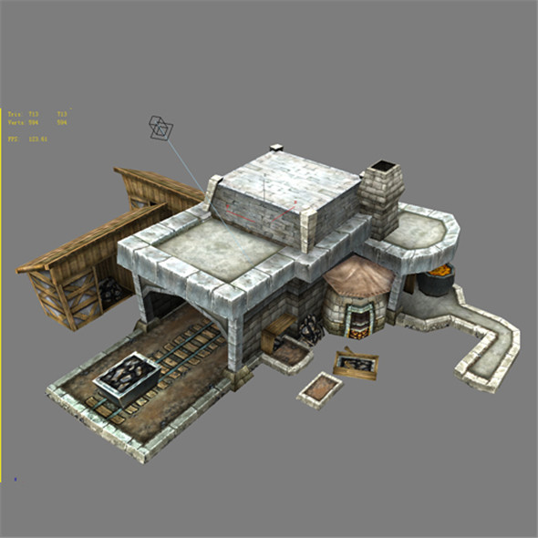 Game Model Arena - iron ore field 03 01 - 3DOcean Item for Sale