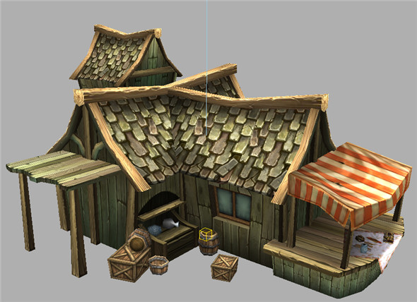 Game Model Arena - jewelry shop 01 - 3DOcean Item for Sale