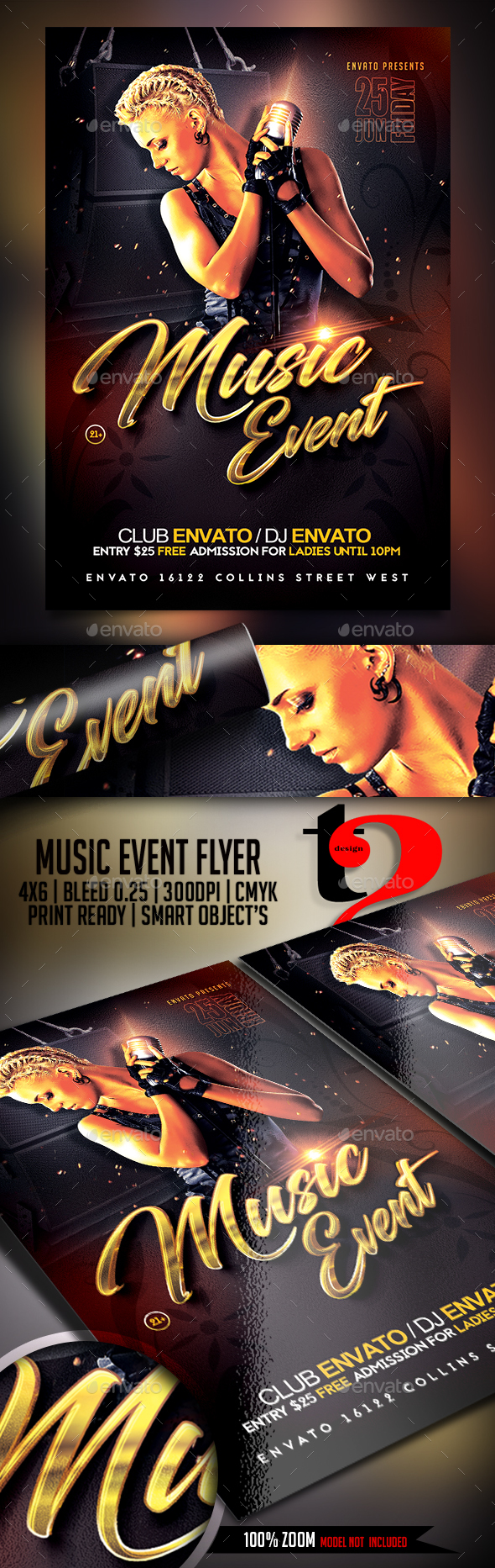 Music Event Flyer Template - Clubs & Parties Events