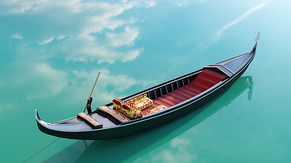 Venetian Gondola - 3DOcean Item for Sale