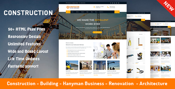 Construction, Architecture & Building Company Template - Constructor