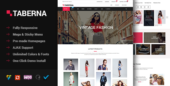 Taberna – Fashion & Electronic WooCommerce Theme nulled