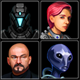 Sci-Fi Characters Icons - GraphicRiver Item for Sale