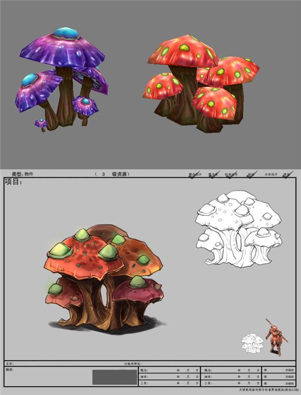 Game Model Arena - mushrooms  bar  01 01 - 3DOcean Item for Sale