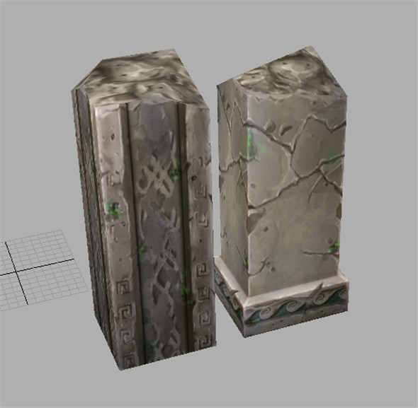 Game Model Arena - off pillars 01 - 3DOcean Item for Sale