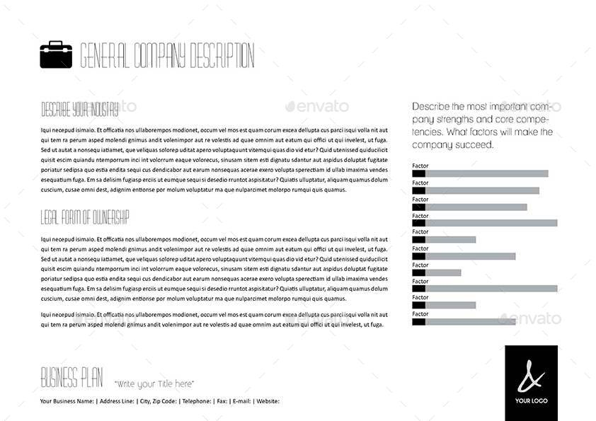 53 Pages Full Business Plan Template Edoc By Keboto Graphicriver