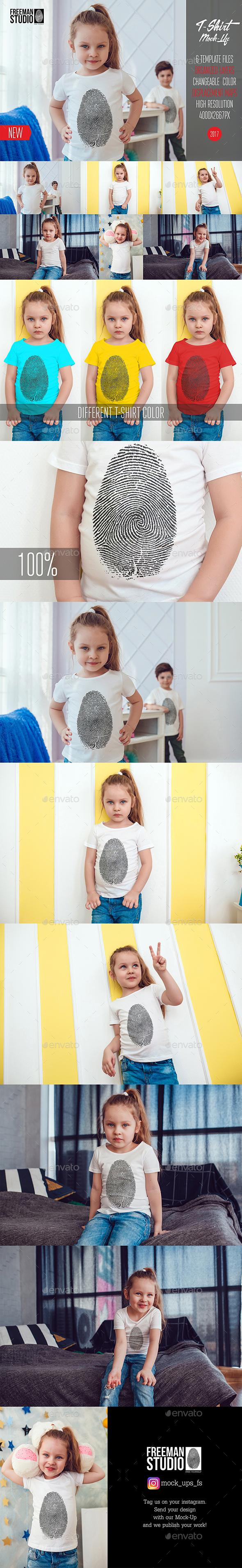 Kids T-Shirt Mock-Up Vol.4 2017