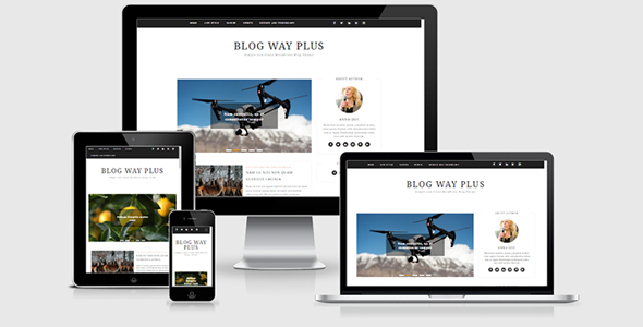 Blog Way Plus – Minimal WordPress Blog Theme