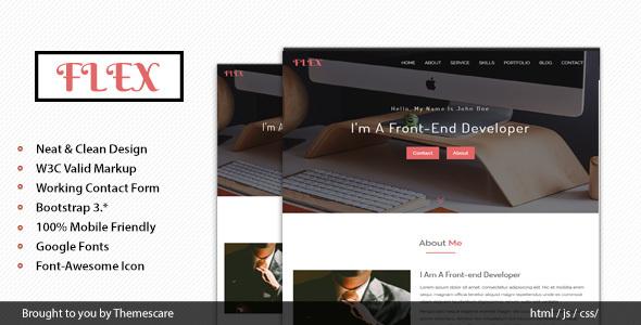 FLEX – Onepage Portfolio Template