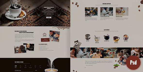 CoffeeSK Psd Template - PSD Templates