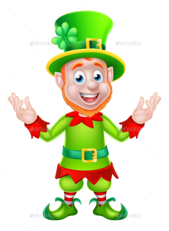 Cartoon Leprechaun - Miscellaneous Seasons/Holidays