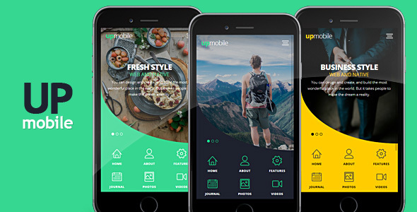 UpMobile HTML Mobile Template - Mobile Site Templates