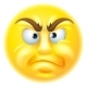 Angry or Disapproving Emoticon Emoji