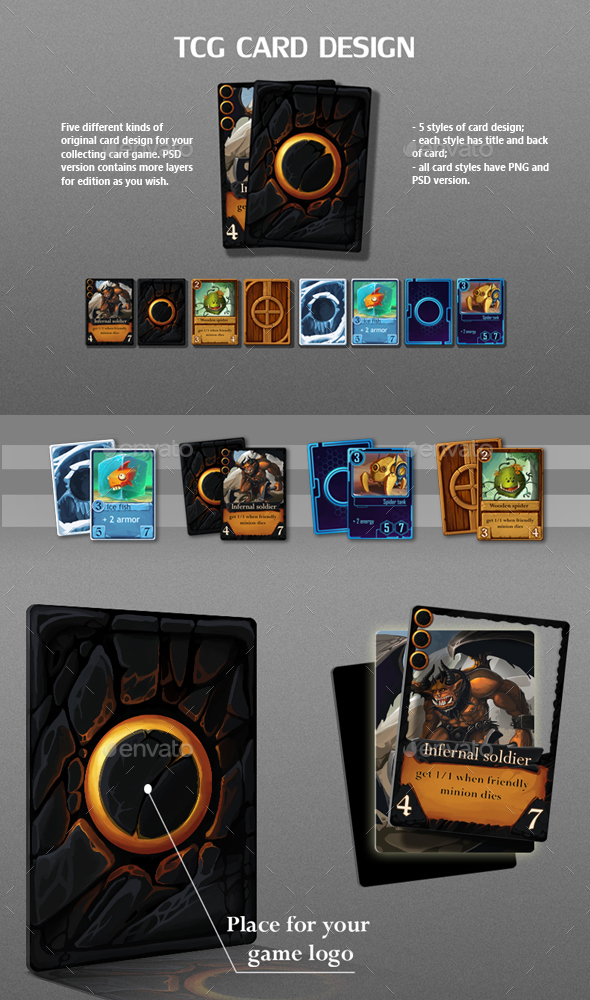 TCG Card Design - Miscellaneous Game Assets