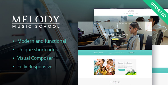 Melody - Music School WordPress Theme - Education WordPress