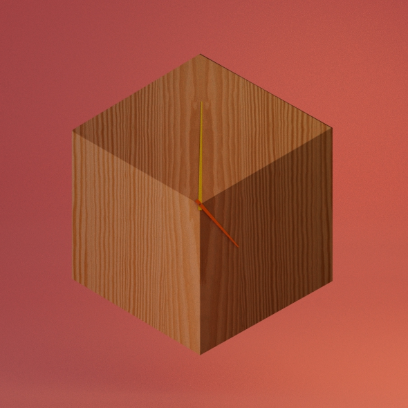 Cube Clock - 3DOcean Item for Sale