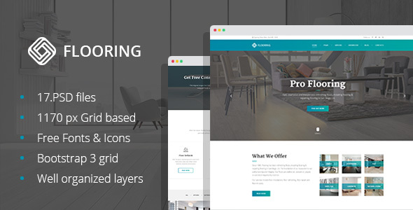 Flooring – Floor Repair/Refinish PSD Template