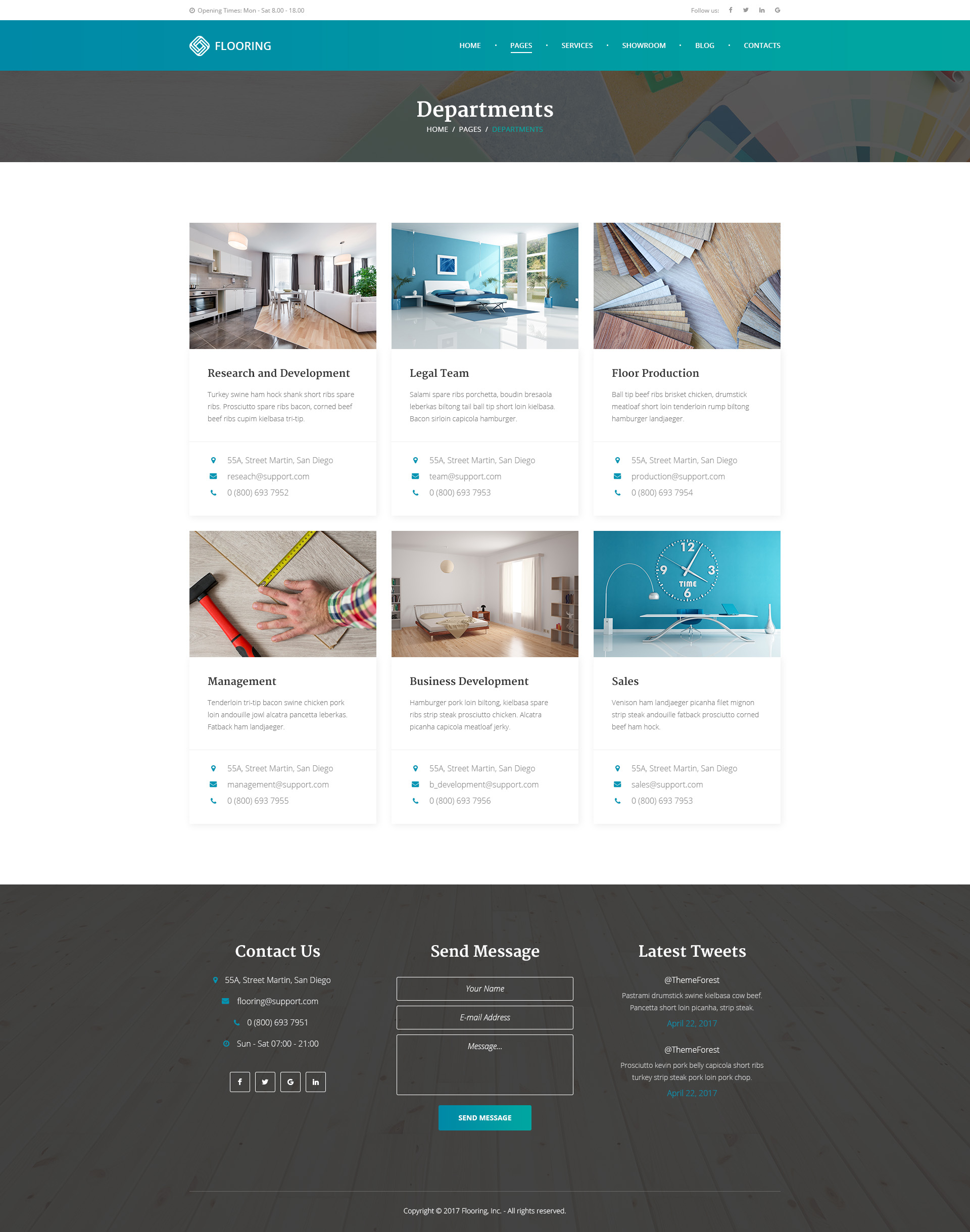 Flooring - Repair & Refinish PSD Template