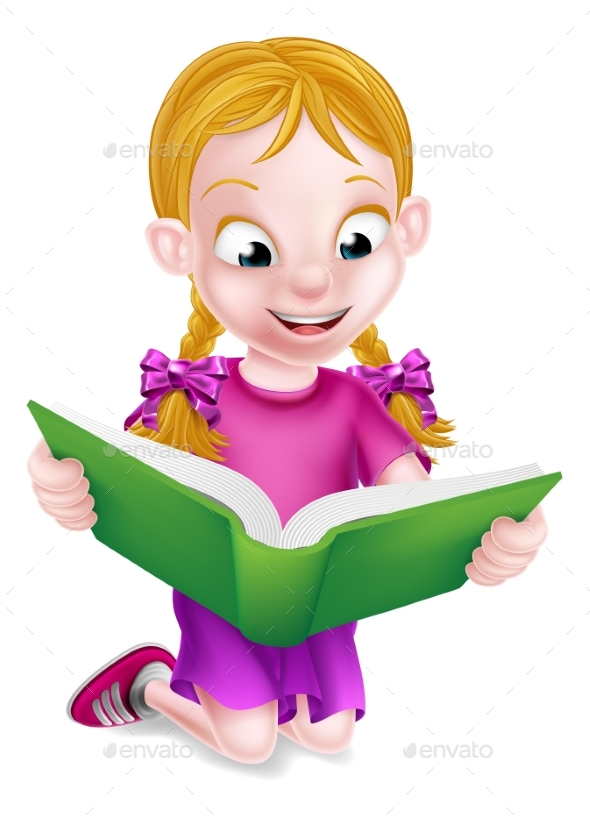 Little Girl Reading - People Characters