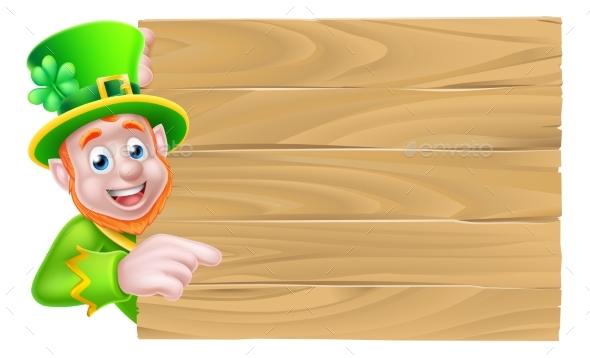 Leprechaun Wooden Sign - Miscellaneous Seasons/Holidays