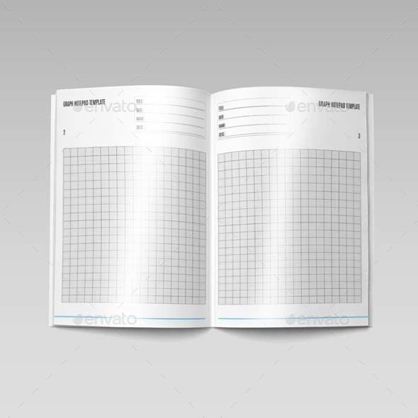 Graph Notepad Template A4 by Keboto | GraphicRiver