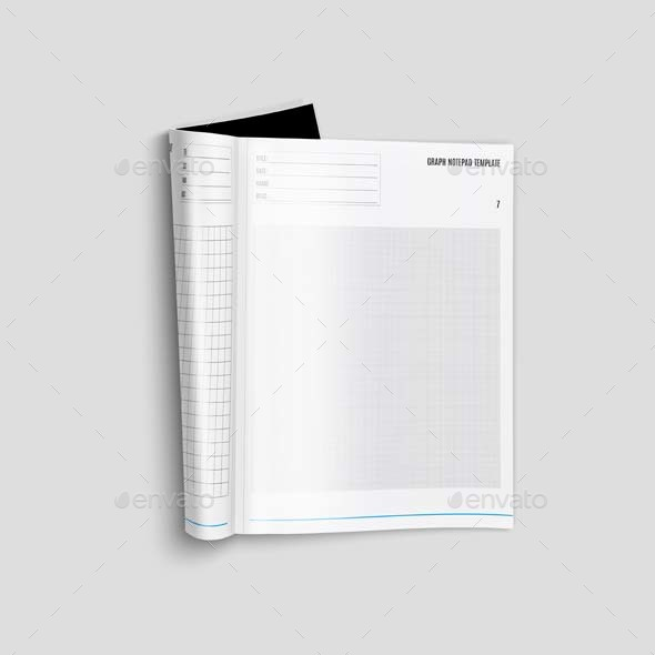 graph notepad template a4 by keboto graphicriver. Black Bedroom Furniture Sets. Home Design Ideas